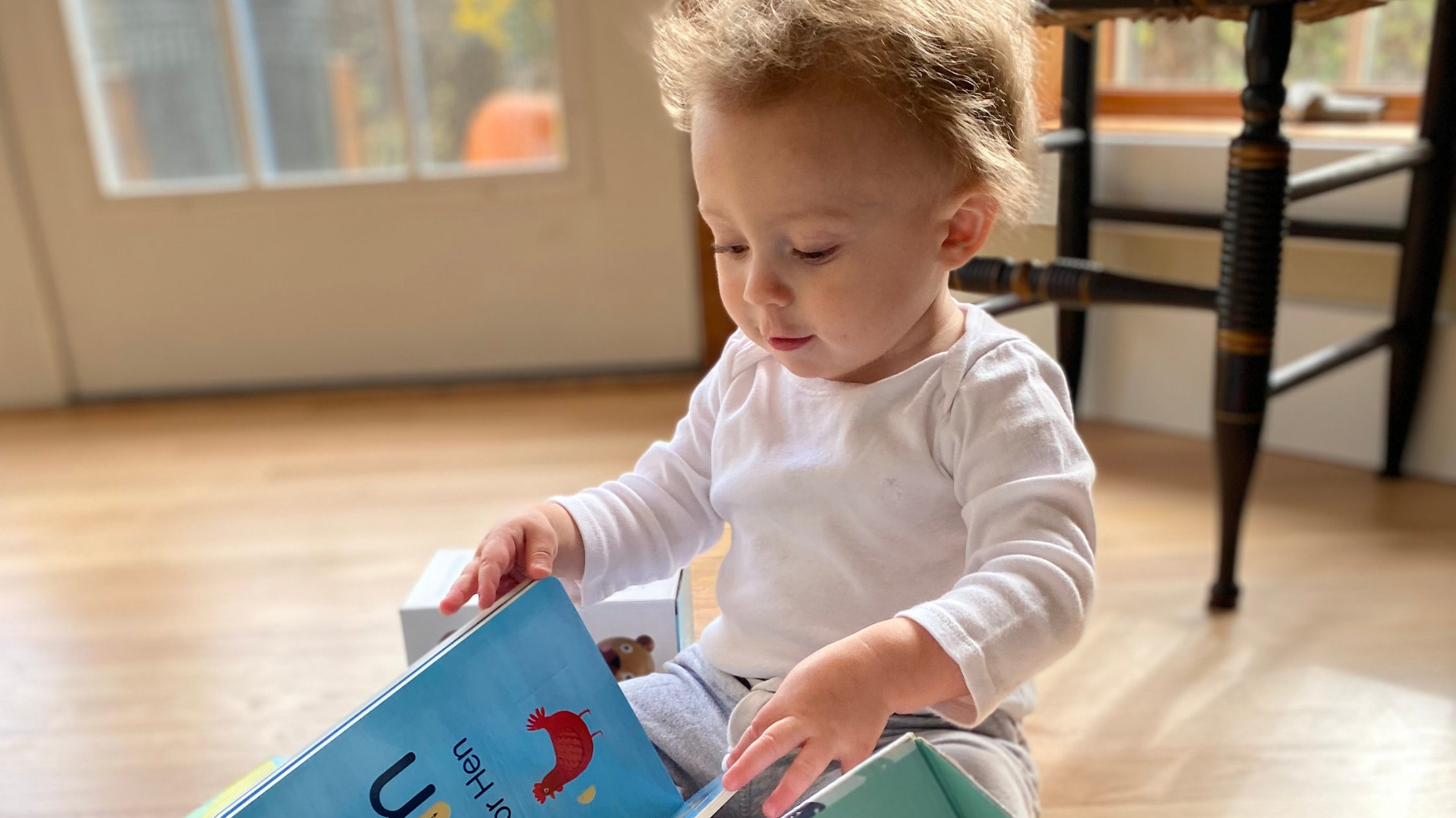 Baby reading board book
